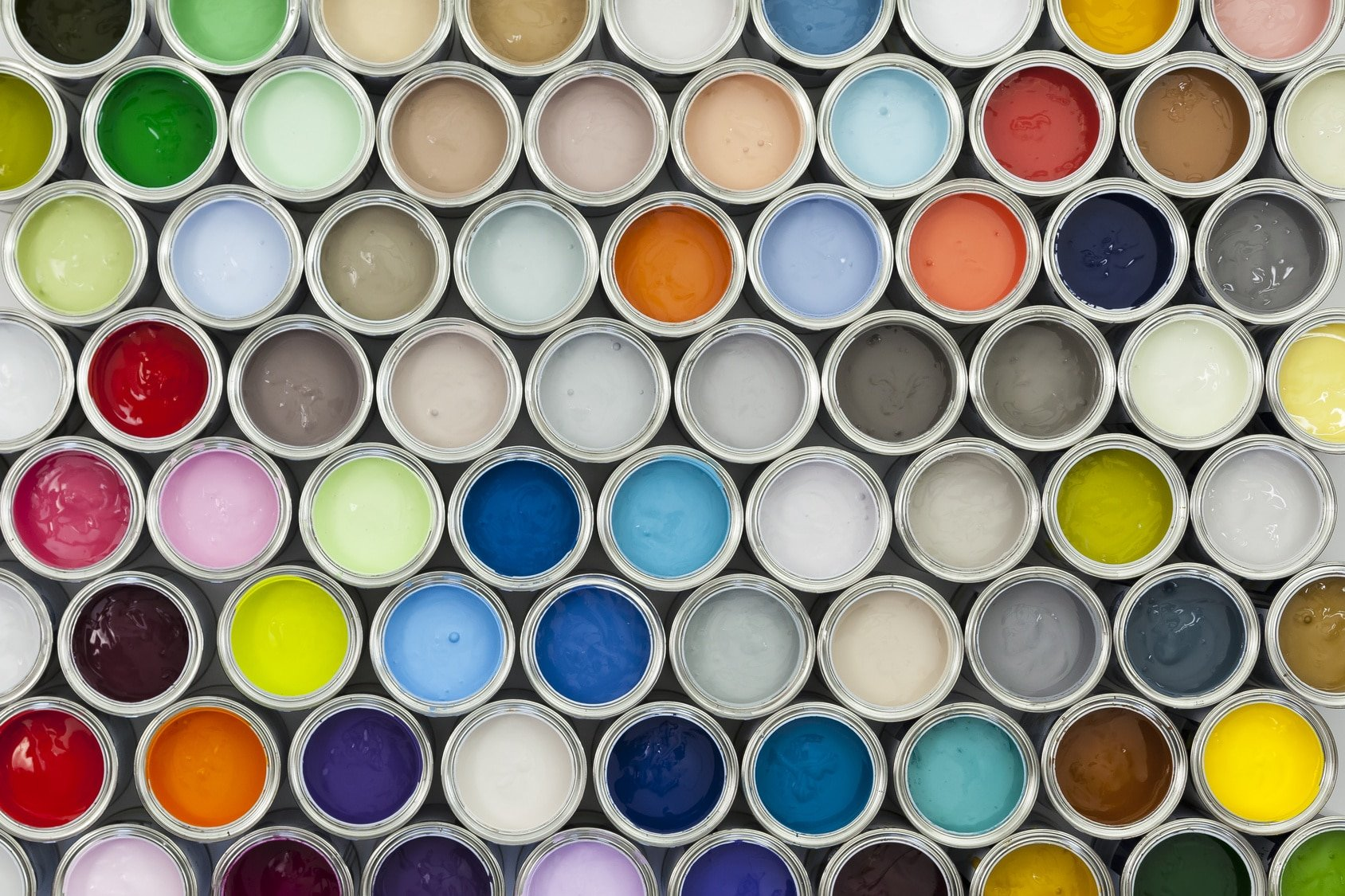 different colors of sprayer paint