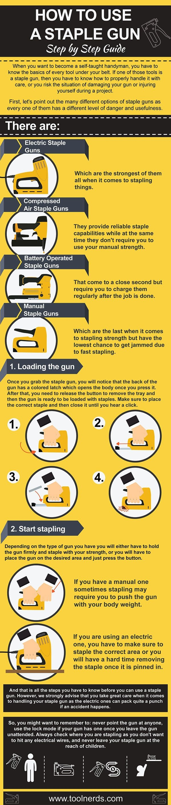 guide to handling a staple gun