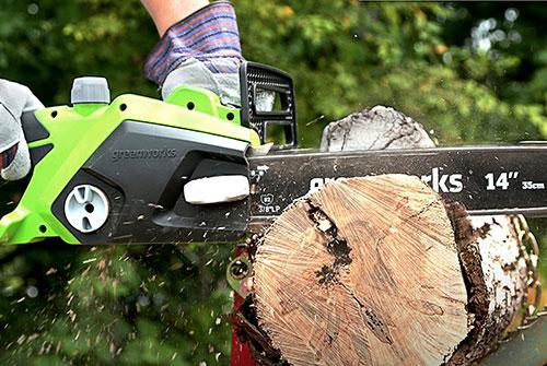 GreenWorks 20222 wood