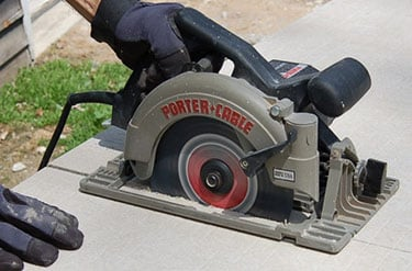 Using a circular saw to cut concrete how to guide tool nerds concrete with a circular saw keyboard keysfo