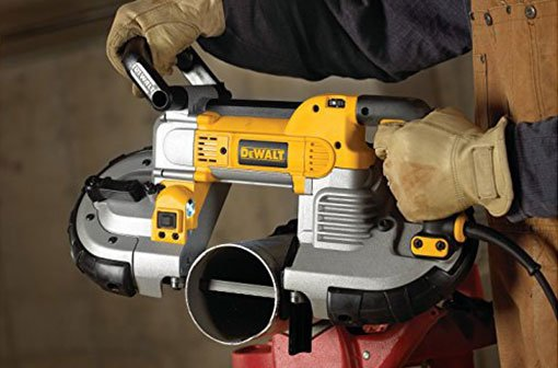 Man Using DeWalt Bandsaw