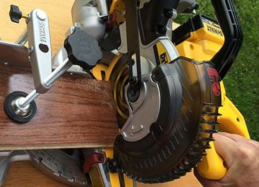 unlocked yellow dewalt miter saw