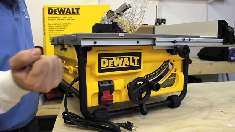 Using new Dewalt table saw