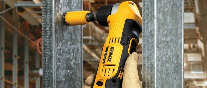 Drilling With DeWalt Angle Drill