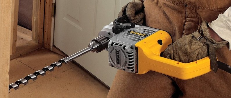 Drilling Wood With DeWalt Right Angle Drill