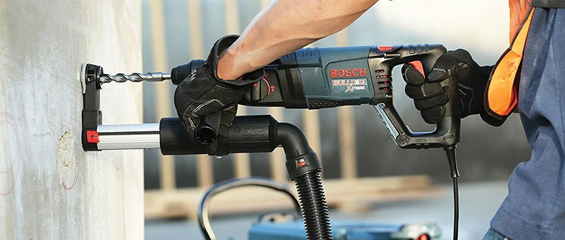 Drilling Wall With Bosch Rotary Hammer Drill