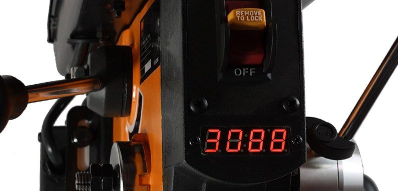 On/Off Button and Display on 4212 Dirll Press