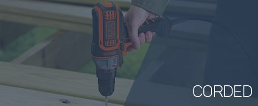 corded drill category homepage
