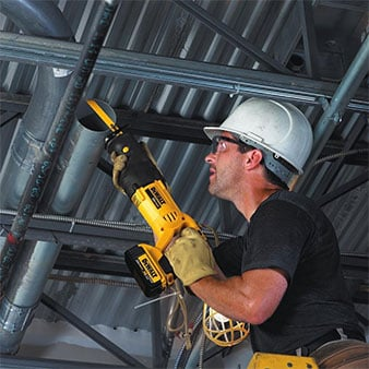Man with DeWalt DCS381