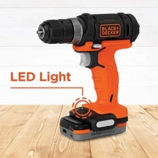BCD701 drill/driver with a built in LED light