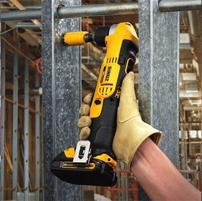 Man Using DeWalt DCD740