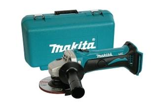 Makita 18V Angle Grinder with a plastic bag