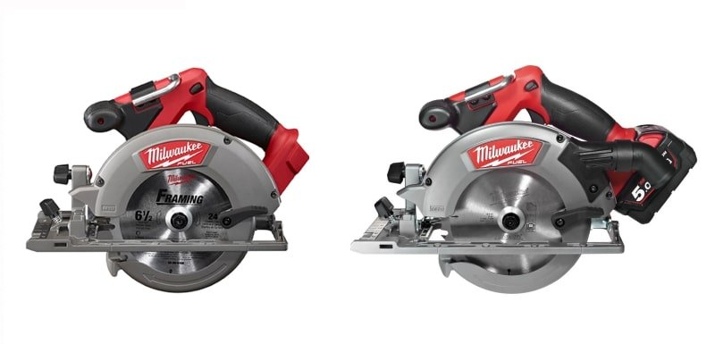 Milwaukee 2730-20 Circular Saw both sides view