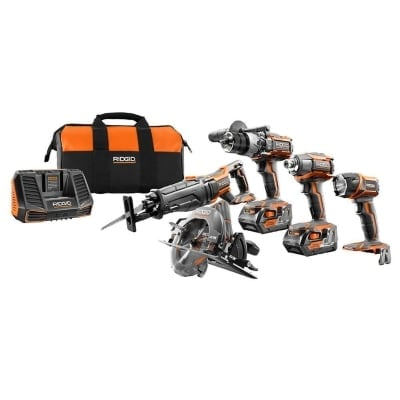Ridgid 18Volt GEN5X Cordless LithiumIon Combo Kit 5Tool Product Image