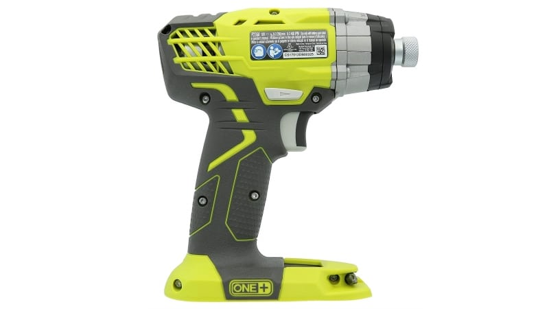 Back side of Ryobi P236 Impact Driver