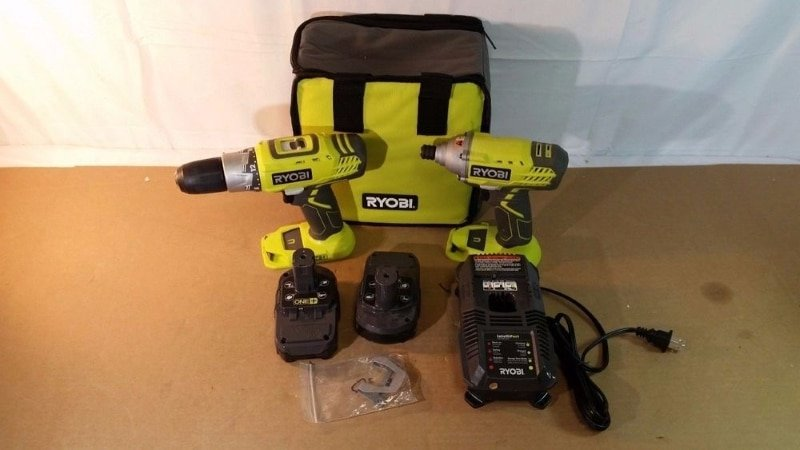 Ryobi P1832 Drill/Driver and an Impact Driver