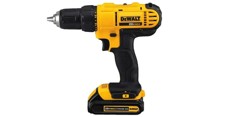 DeWalt DCD771 Drill Driver side view