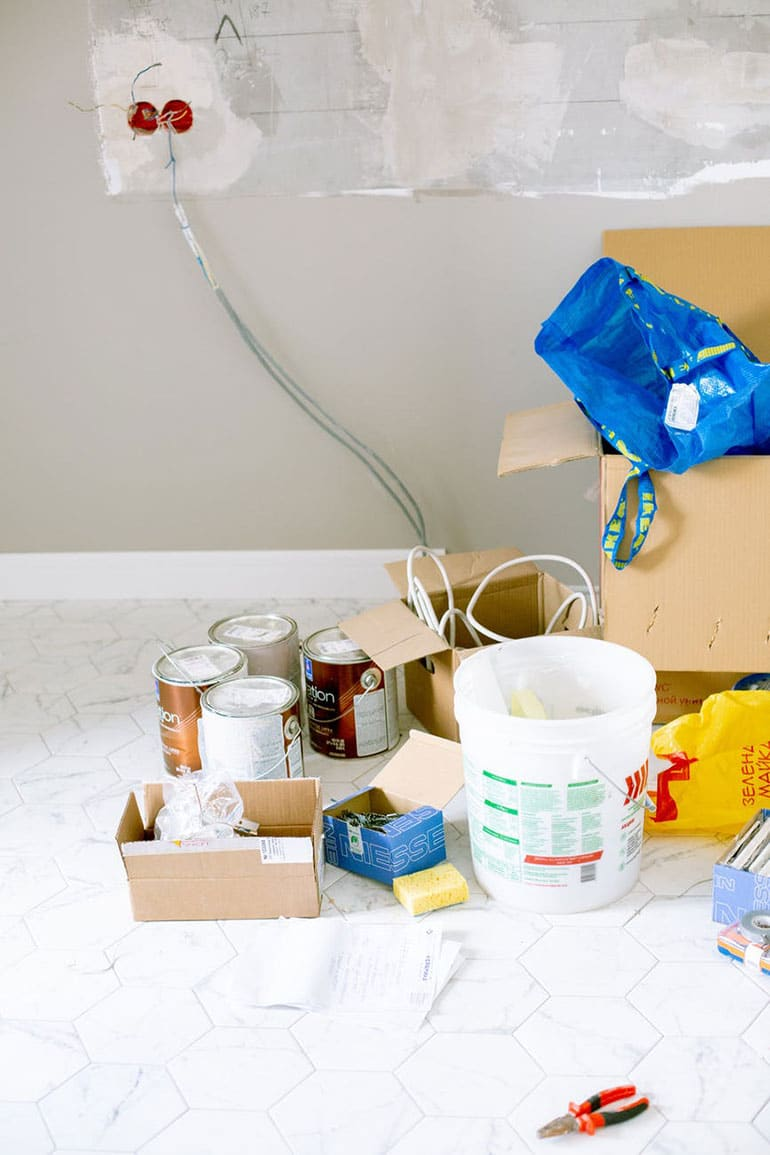 Removing preparation materials